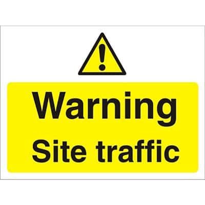 Warning Sign Site Traffic Fluted Board 30 x 40 cm