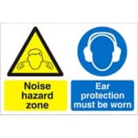 Warning Sign Noise Hazard Fluted Board 30 x 40 cm