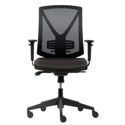 Realspace Ergonomic Office Chair Karl Mesh, Fabric Black