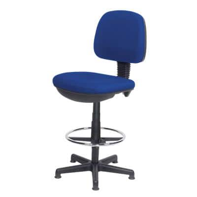Realspace Draughtsman Chair Fabric Blue