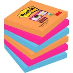 Post-it® Super Sticky Notes - Bangkok Collection (76 mm x 76 mm) 6 pads per pack