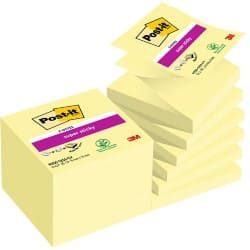 Post-it Z-Sticky Notes Yellow Plain 76 x 76 mm 70gsm 12 pieces of 90 sheets
