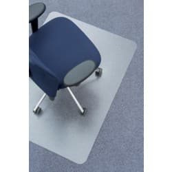 Clear Style polycarbonate chair mat for soft floors – 920 x 1220 mm