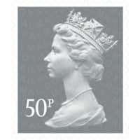 Royal Mail 50p Postage Stamp Self Adhesive Pack of 25