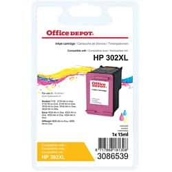 Office Depot Compatible HP 302XL Ink Cartridge f6u67ae Colour