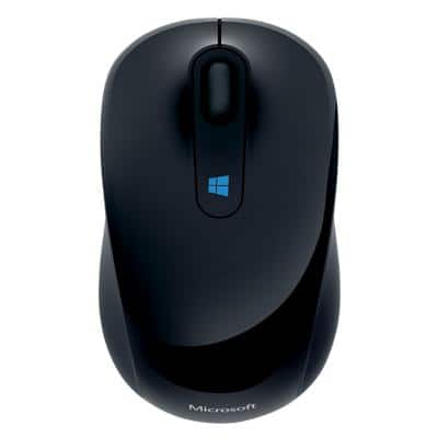 Microsoft Wireless Mouse Sculpt Mobile Blue Track Black