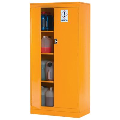 Cabinet Lockable with 4 Shelves Steel Express Hazardous Substance 915 x 505 x 1905mm Yellow