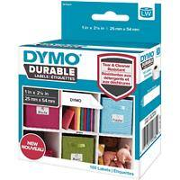 DYMO LW Durable Multi-purpose Labels 1976411 Black on White 25 mm x 54 mm 160 Labels