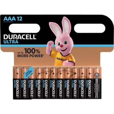 Duracell AAA Alkaline Batteries Ultra Power MX2400 LR03 1.5V 12 Pieces