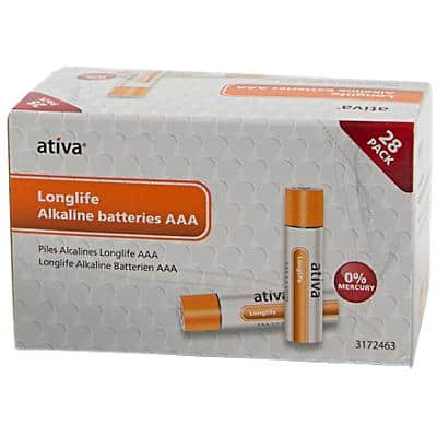 Ativa AAA Alkaline Batteries Longlife 1.5V Pack of 28
