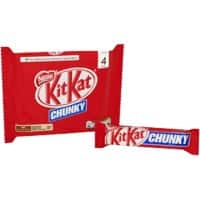 Nestlé Milk Chocolate Biscuit Bar KitKat Chunky 4 Pieces