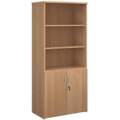 Dams International Combination Unit Lockable with 4 Shelves Melamine Universal 800 x 470 x 1790mm Beech