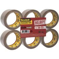 Scotch HV.5066.F6.B Packaging Tape 50mm x 66m Brown 6 Rolls