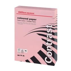 Office Depot Contrast Coloured Paper A4 160gsm Pink 250 sheets