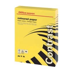 Office Depot Contrast Coloured Paper A4 80gsm Intense Yellow 500 sheets