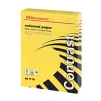 Office Depot Contrast Coloured Tinted Paper A4 160gsm Intense Yellow 250 Sheets
