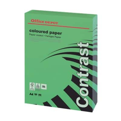 Office Depot Contrast Coloured Paper A4 160gsm Green 250 Sheets