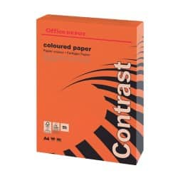 Office Depot Contrast Coloured Paper A4 160gsm Red 250 sheets