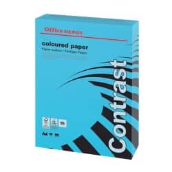 Office Depot Contrast Coloured Paper A4 80gsm Blue 500 sheets