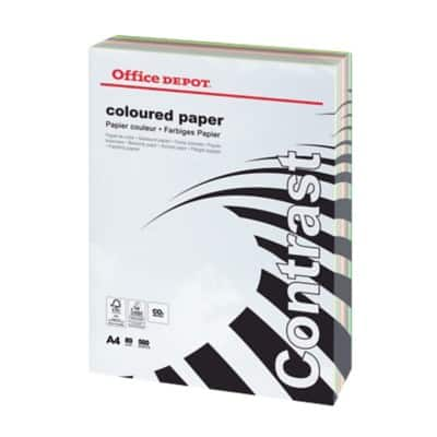Office Depot Contrast Coloured Paper A4 80gsm Assorted 500 Sheets