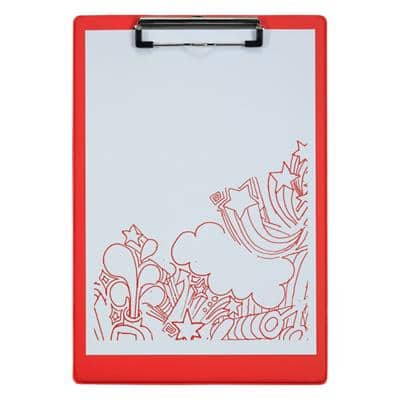 Office Depot Clipboard Red A4 23.5 x 34 cm PVC