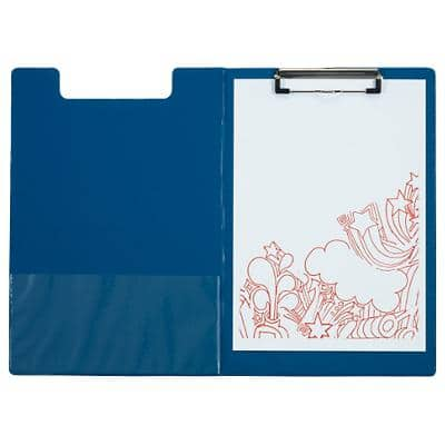 Office Depot Foldover Clipboard Blue A4 23.5 x 34 cm PVC