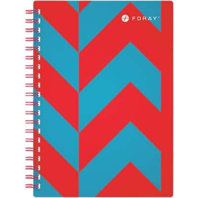 Foray Extreme A5 Wirebound Turquoise Poly Cover Notebook Ruled 200 Pages