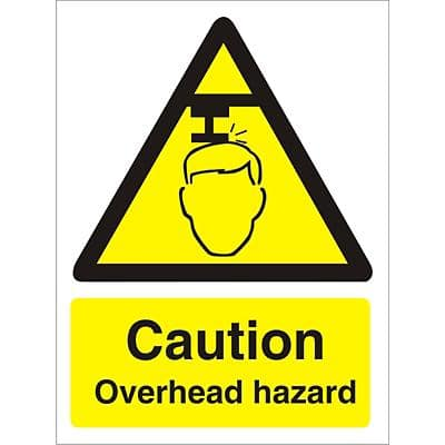 Warning Sign Overhead Hazard PVC 15 x 20 cm