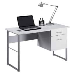 Alphason Office Desk White 760 x 1,200 x 600 mm
