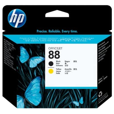 HP 88 Original Printhead C9381A Black, Yellow