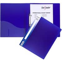 Snopake Ring Binder 2 ring Polypropylene A4 Blue