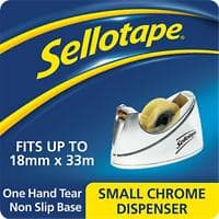 Sellotape Tape Dispenser Small 19mm x 33m Chrome