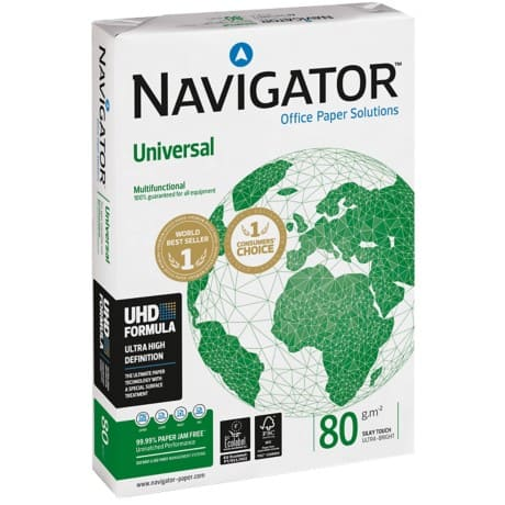 Navigator Universal Printer Paper A3 80gsm White 500 Sheets