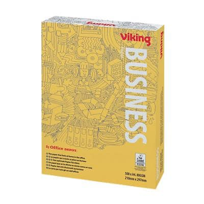 Viking Business Printer Paper A4 80gsm White 500 Sheets