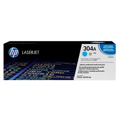 HP 304A Original Toner Cartridge CC531A Cyan