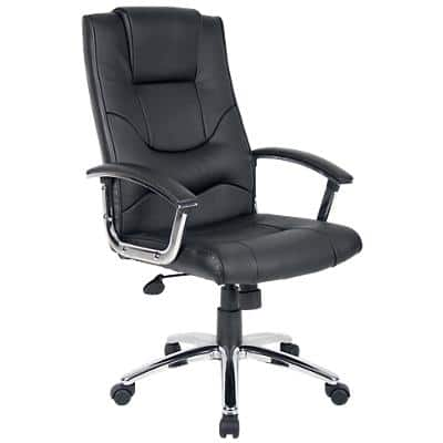 Realspace Executive Chair Rotterdam Bonded leather Black