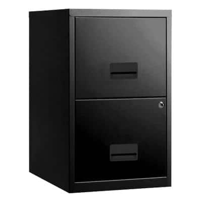 Pierre Henry Filing Cabinet with 2 Lockable Drawers 400 x 400 x 660mm Black