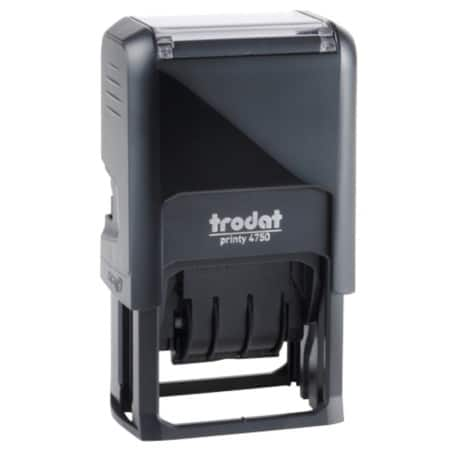 Trodat Printy 4750 Self Inking Date Stamp Black 24 mm