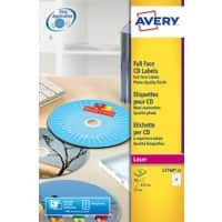 AVERY CD Labels L7760-25 White A4 25 Sheets of 2 Labels