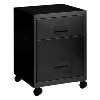 Pierre Henry Filing Cabinet with 2 Lockable Drawers Combi 400 x 400 x 530mm Black