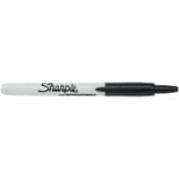 Sharpie S0810840 Permanent Marker Fine Bullet Black Pack of 12