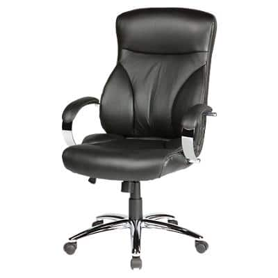 Realspace Permanent Contact Executive Chair with Armrest and Adjustable Seat Oslo Bonded Leather Black