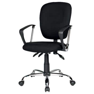 Realspace Synchro Tilt Ergonomic Office Chair with Armrest and Adjustable Seat Atlas Black