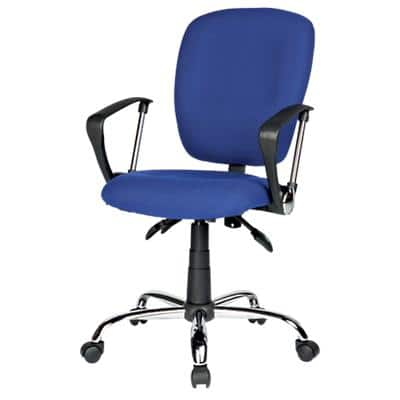Realspace Synchro Tilt Ergonomic Office Chair with Armrest and Adjustable Seat Atlas Blue
