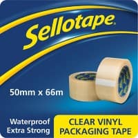 Sellotape Vinyl Packaging Tape 50mm x 66m Transparent