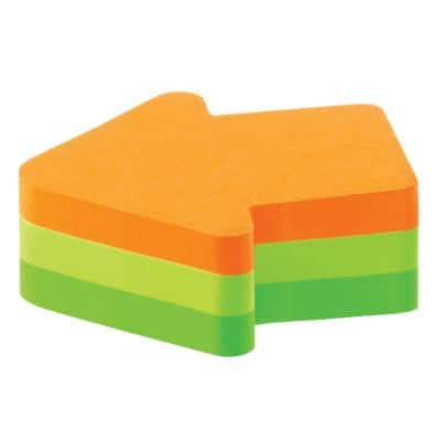 Post-it Sticky Notes Cube 70 x 70 mm Arrow Assorted Colours 225 Sheets