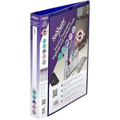 Snopake Ring Binder Polypropylene A4 Purple