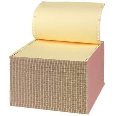 Niceday Computer Listing Paper 24.1 x 27.9 cm Perforated 54/50/51gsm Pink, Yellow, White 700 Sheets