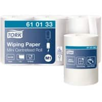 Tork Wiping Paper M1 1 Ply Without feather edge White 3 Rolls of 771 Sheets