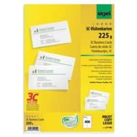 Sigel LP796 Business Cards 85 x 55 mm 225gsm White 400 Pieces